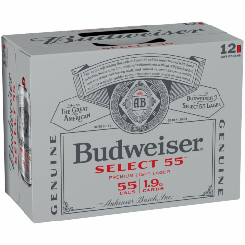 Budweiser® Select 55™ Light Lager Beer Perspective: left