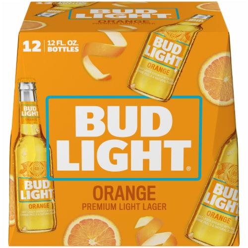 Bud Light Orange Beer Perspective: left