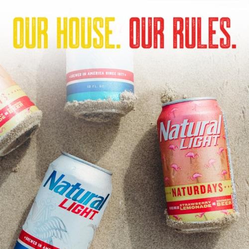 Natural Light® Naturdays™ Strawberry Lemonade Beer Perspective: left