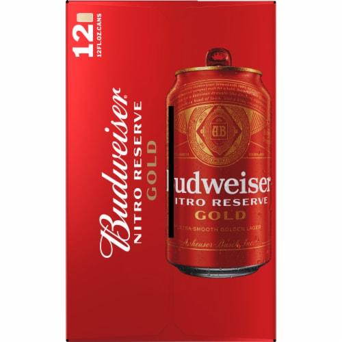 Budweiser® Nitro Reserve Gold Lager Beer Perspective: left