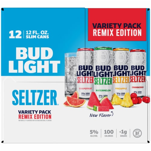 Bud Light Remix Edition Seltzer Variety Pack Perspective: left