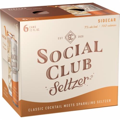 Social Club Seltzer Sidecar Hard Seltzer Cocktail Perspective: left