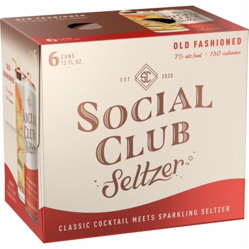 Social Club Seltzer Old Fashioned Hard Seltzer Cocktail Perspective: left