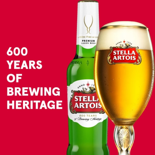 Stella Artois - 12 pack can Perspective: left