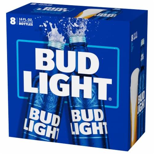 Bud Light Beer Reclosable Aluminum Bottles Perspective: left