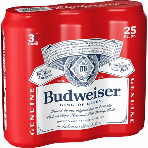 Budweiser Lager Beer Perspective: left