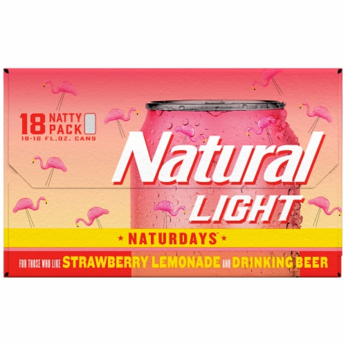 Natural Light Naturdays Strawberry Lemonade Beer Perspective: left