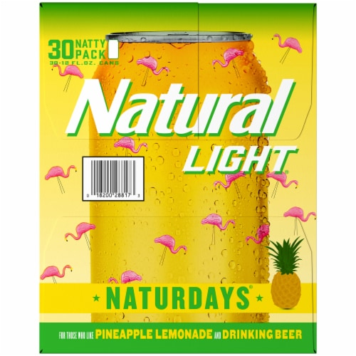 Natural Light Naturdays Pineapple Lemonade Beer Perspective: left