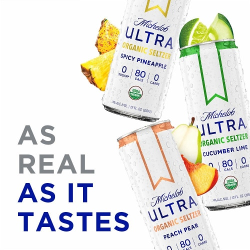 Michelob Ultra Organic Seltzer First Edition Flavors Perspective: left