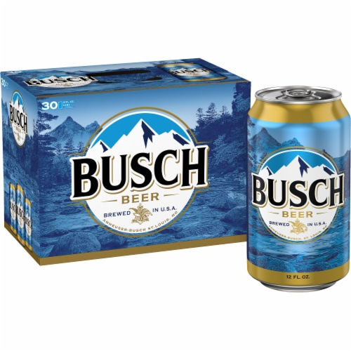 Busch Lager Beer Perspective: left