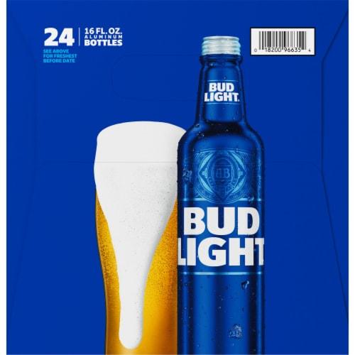 Bud Light Reclosable Aluminum Bottles Perspective: left