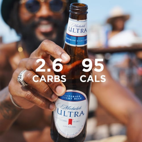 Michelob Ultra Superior Light Beer Perspective: left