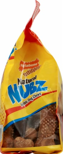 Nylabone Natural Nubz Edible Dog Chews Chicken Flavor Large Dog Treats 18 Count Perspective: left