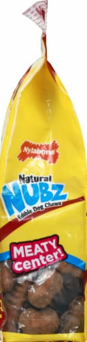 Nylabone Nubz Natural Beef Flavor Edible Dog Chews Perspective: left