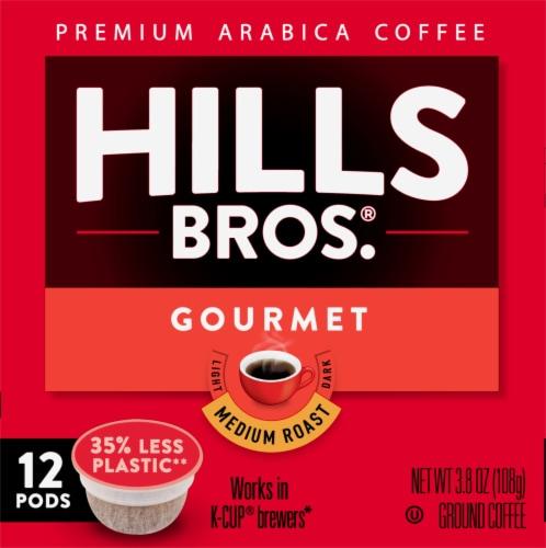 Hills Bros.® Gourmet Medium Roast Coffee Single Serve Cups Perspective: left