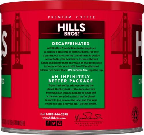 Hills Bros. Decaf Medium Roast Ground Coffee Perspective: left