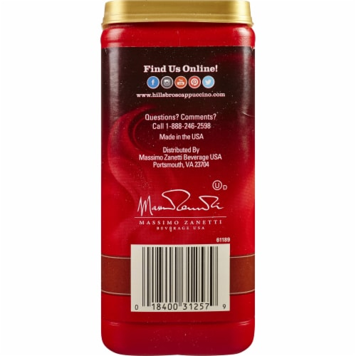 Hills Bros. English Toffee Cappuccino Drink Mix Perspective: left