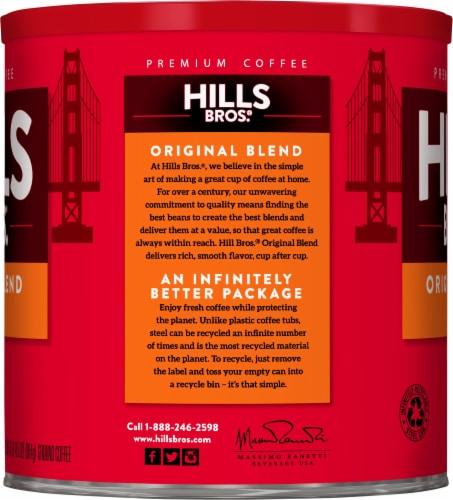 Hills Bros. Original Blend Medium Roast Ground Coffee Perspective: left