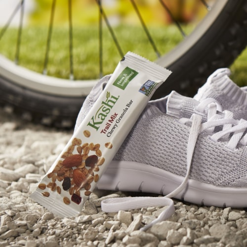 Kashi Vegan Chewy Granola Bars Trail Mix Perspective: left