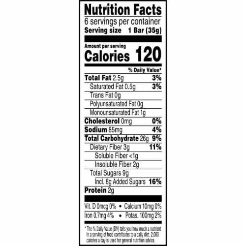 Kashi Cherry Dark Chocolate Chewy Granola Bars 6 Count Perspective: left