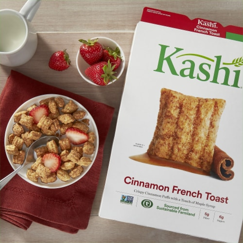 Kashi Cinnamon French Toast Puffed Cereal Perspective: left
