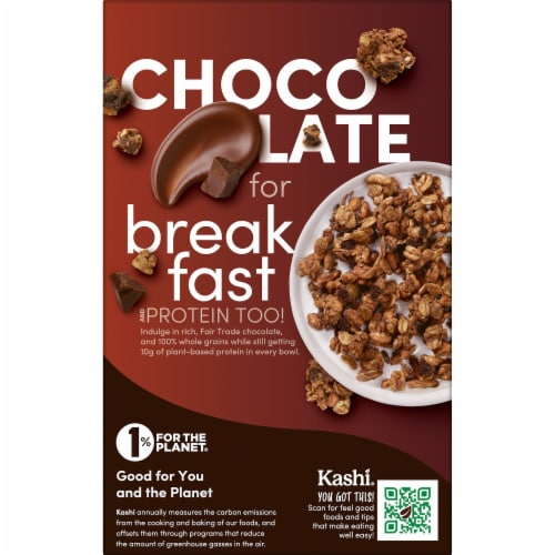 Kashi GO Vegan Breakfast Cereal Chocolate Crunch Perspective: left