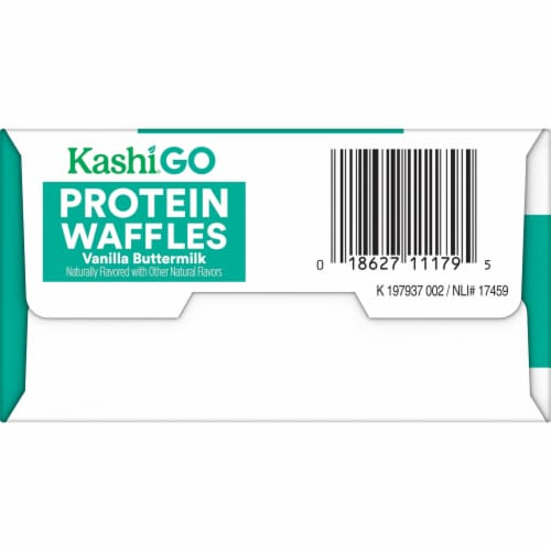 Kashi GO Vanilla Buttermilk Protein Waffles Perspective: left
