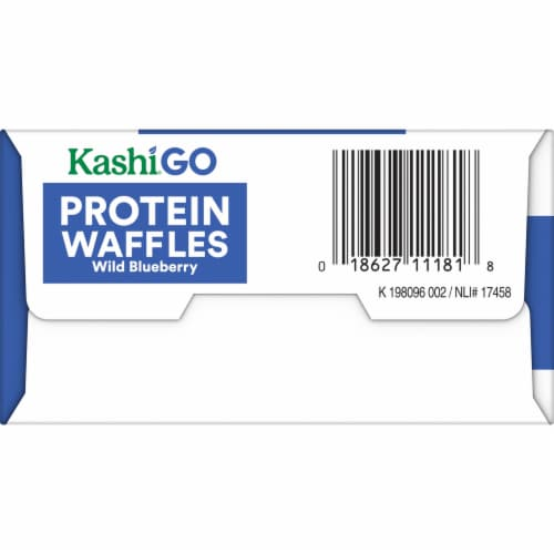 Kashi Golean Wild Blueberry Protein Waffles Perspective: left