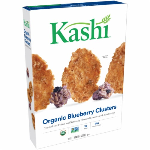 Kashi Organic Blueberry Clusters Cereal Perspective: left