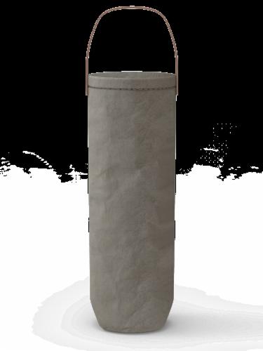 IG Design Kraft Wine Bag - Gray Washed Perspective: left