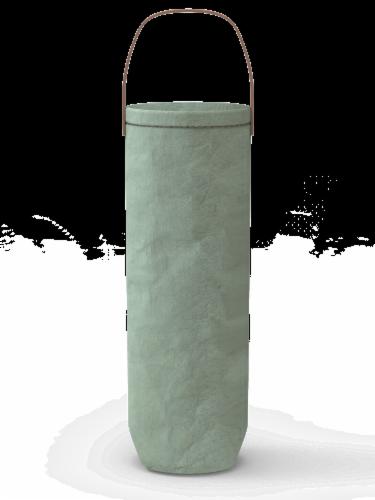 IG Design Kraft Wine Bag - Mint Washed Perspective: left
