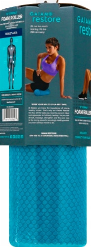Gaiam Restore™ Compact Foam Roller - Teal Perspective: left