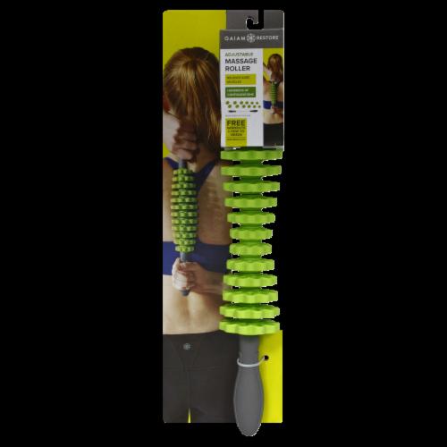 Gaiam Deep Tissue Massage Roller - Gray/Green Perspective: left