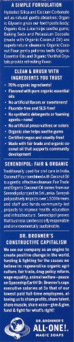 Dr. Bronner's Peppermint All-One Toothpaste Perspective: left