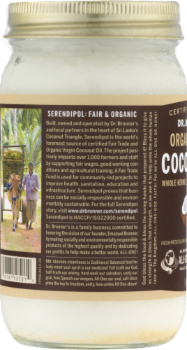 Dr. Bonner's Organic Virgin Coconut Oil Perspective: left