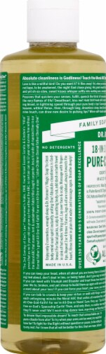 Dr. Bronner's 18-in-1 Hemp Almond Pure-Castile Liquid Soap Perspective: left