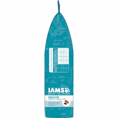 IAMS Proactive Health with Chicken & Turkey Indoor Weight & Hairball Care Cat Food Perspective: left
