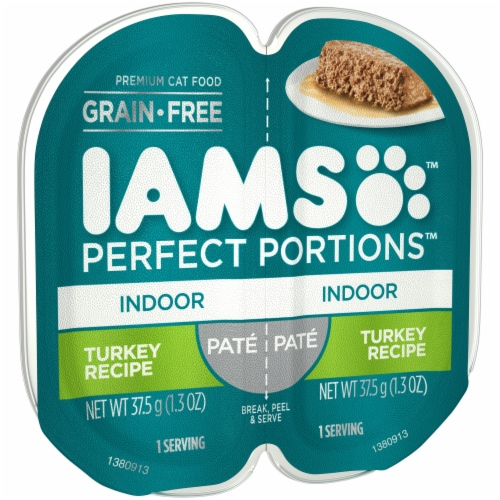 IAMS Perfect Portions Turkey Recipe Pate Indoor Wet Cat Food Perspective: left