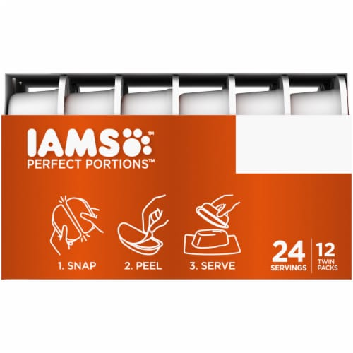 IAMS Perfect Portions Grain Free Chicken and Tuna Pate Twin Packs Adult Wet Cat Food Variety Pack Perspective: left