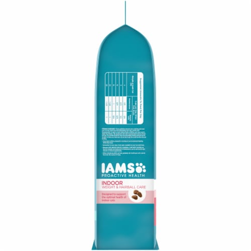 IAMS Proactive Health Salmon Indoor Weight & Hairball Care Dry Cat Food Perspective: left