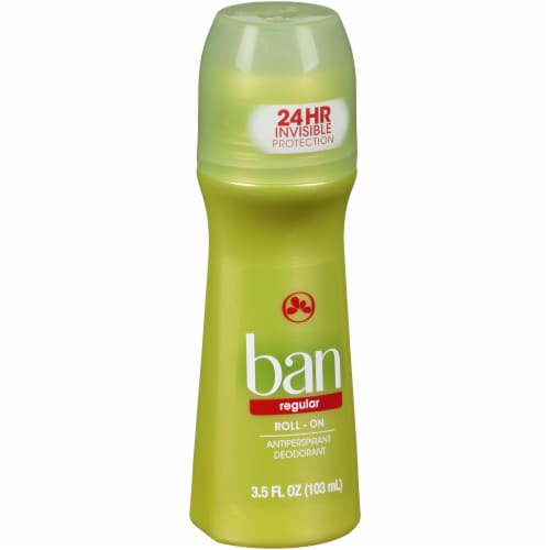 Ban Regular Roll-On Antiperspirant and Deodorant Perspective: left