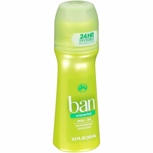 Ban Unscented Roll-On Antiperspirant and Deodorant Perspective: left