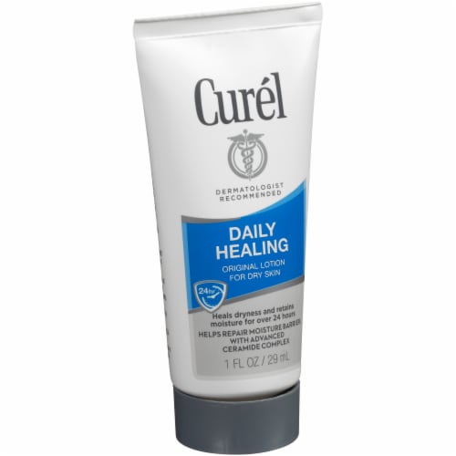 Curel Daily Healing Original Lotion for Dry Skin Perspective: left