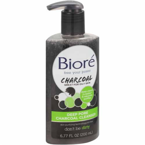 Biore Deep Pore Charcoal Cleanser Perspective: left