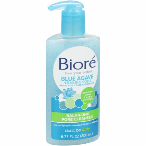 Biore Blue Agave and Baking Soda Balancing Pore Cleanser Perspective: left