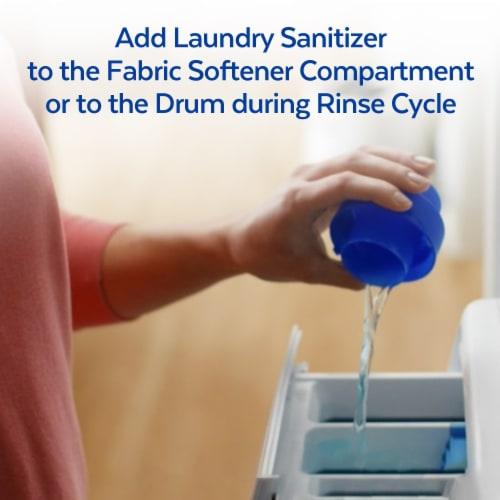 Lysol Crisp Linen Liquid Laundry Sanitizer Perspective: left