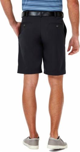 Haggar Men's Cool 18 Pro Regular Fit Stretch Shorts - Khaki Perspective: left