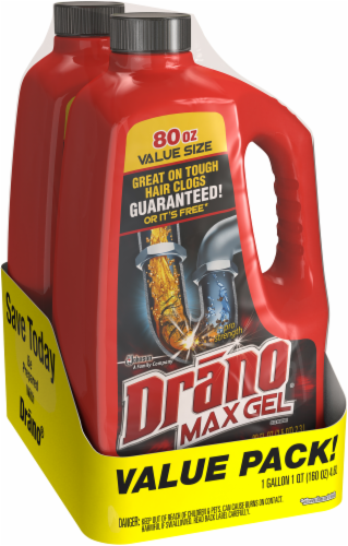 Drano Max Gel Clog Remover Twin Pack Perspective: left