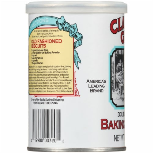 Clabber Girl Double Acting Baking Powder Perspective: left