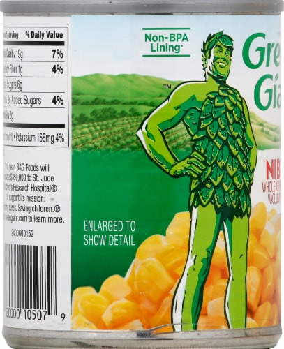 Green Giant Whole Kernel Sweet Corn Niblets Perspective: left